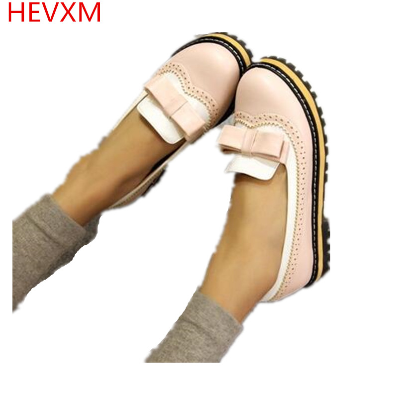 HEVXM 2017 new flats platform shoes spring summer autumn oxfords creepers women shoes women's fashion shoes woman pink phyanic summer style shoes woman 2017 new gladiator sandals platform flats fashion creepers women flat shoes 3 colors phy4044