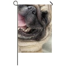 Pug Dog Garden flag Seasonal Flags for Outdoors Decor