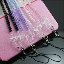 цена на  Free shipping Fashionable crystal Pearl Long Chain Cell Phone Neck Straps Hang Rope for MP3 Smartphone Camera Sweater Chain