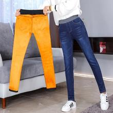 Для женщин с флисовой подкладкой джинсы зимние штаны из плотного