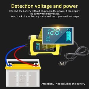 Image 5 - たわしウォッシュクリーニングツール 12 v 5A スマート鉛酸バッテリー充電器パルス修理充電器 lcd ディスプレイ