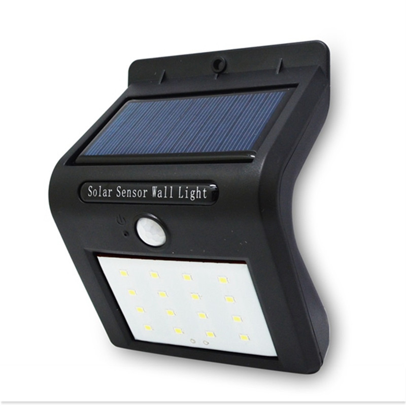 Outdoor Solar Lamp Waterproof PIR Motion Sensor Wall Lamp 16 LED Solar Power Light Energy Saving Garden Security Light waterproof led solar light energy saving solar lamp with pir motion sensor 8 16 20 leds solar garden lights for outdoor lighting
