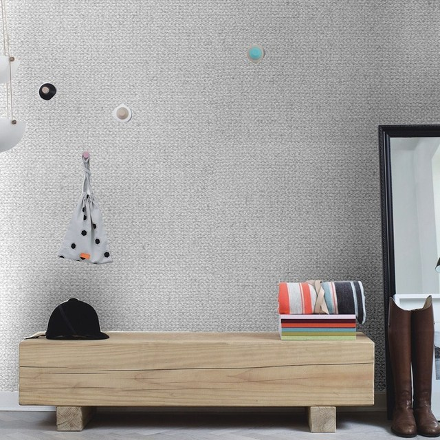 Attractive Beibehang Plain Können Peeling Große Bereich Nachahmung Leinen Muster  Gepunktete Tapete Werkzeug Ausstellungshalle Hotel Hintergrundbild