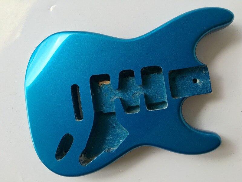 metallic blue ST electric guitar body