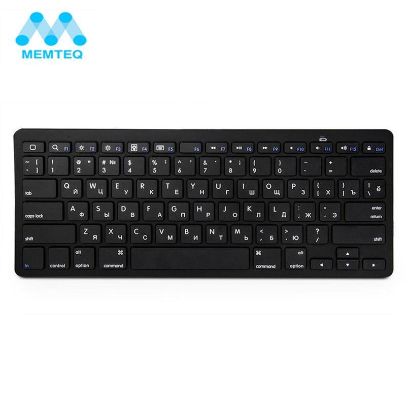 MEMTEQ Ultra Slim Russian Wireless Bluetooth 3.0 Keyboard Portable Keyboard for Apple iPad/Mac Book/Samsung Phone/PC Computer russian phrase book