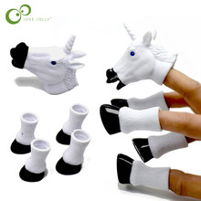 2018 Newest Cartoon Unicorn Animal Finger Puppet Finger Toy Finger Doll Baby Educational Hand Toy Tell Story GYH(China)