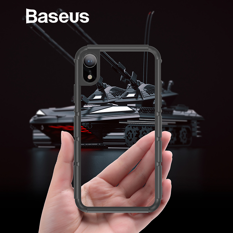 Baseus para iPhone XR caso de silicona Durable PC híbrido armadura caso para iPhonoe XR 6,1 2018 protectora del teléfono cubierta Coque