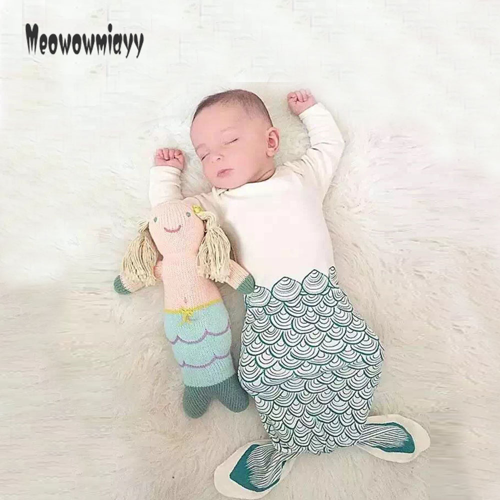 Sleeping bag baby 2017 baby strollers for newborns cotton Anti-kicks cartoon Mermaid, penguin one-Piece pajamas sleep sack