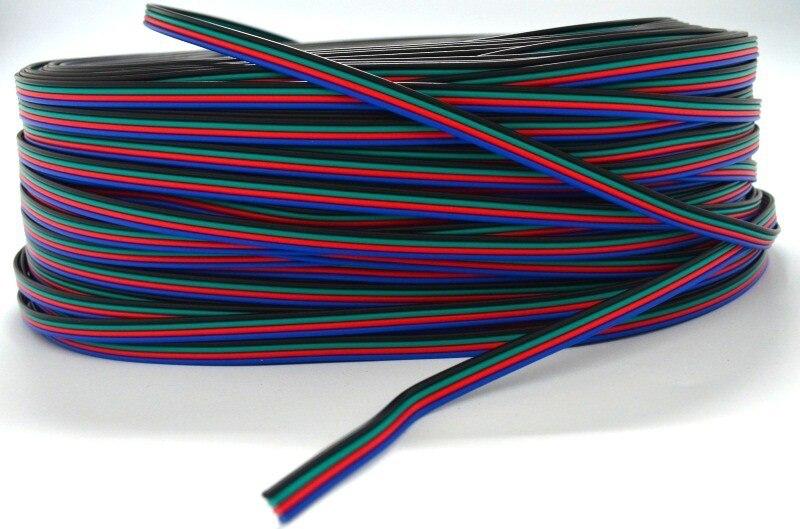 10 м 4 pin коробка передач с соединительный кабель для светодиодной провод электрический провод-удлинитель для осветительных приборов для RGB 3528 и 5050 Светодиодные ленты света