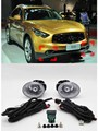 Fog lamp assembly front bumper + switch wire For Infiniti FX35