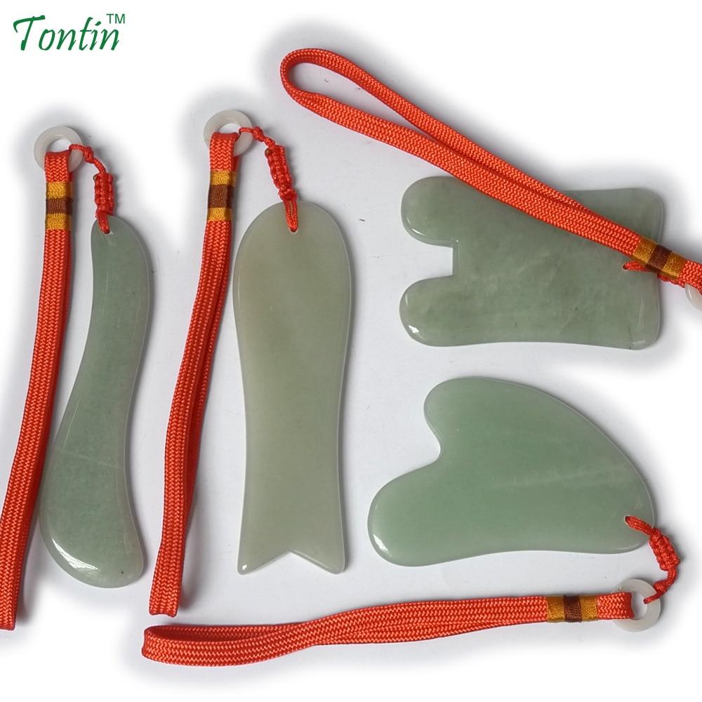 TONTIN NEW Acupuncture Massage Guasha Tool SPA Beauty kit Natural Aventurine 4 pcs/set (1pcs fish 1pcs S 1pcs U 1pcs Y) 1pcs 7mbr25sa120 70