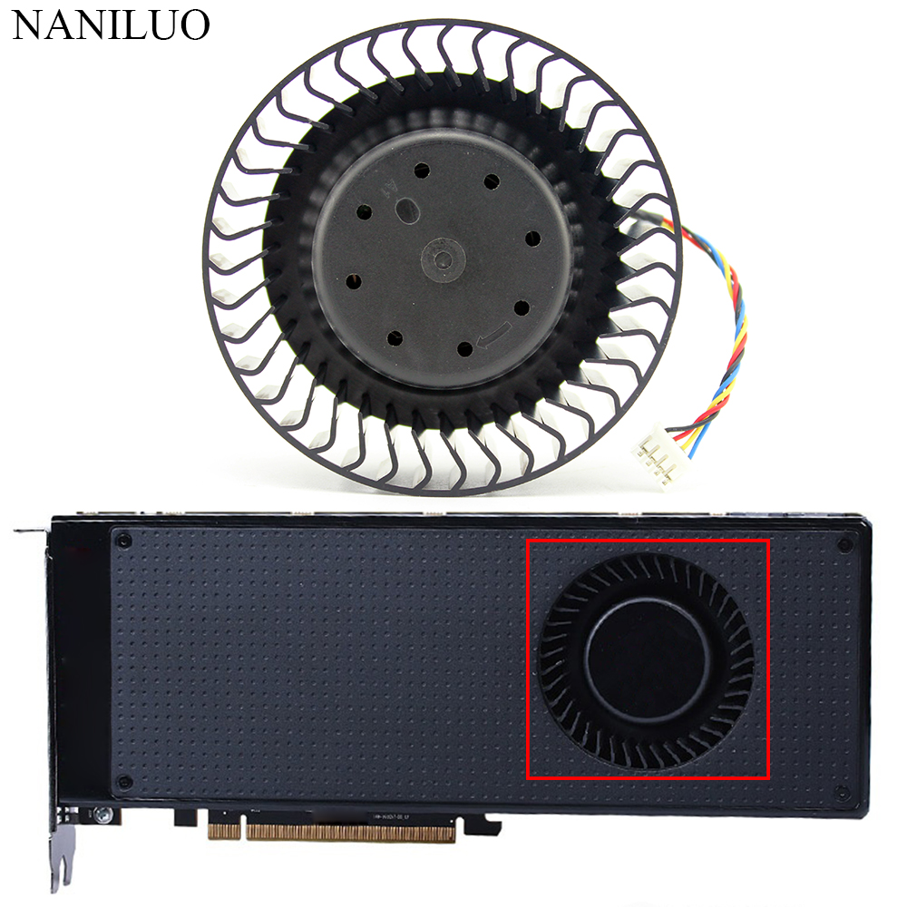 BFB1012SHA01 For AMD R9 390 X Fan DC12V 2 40A 4Pin GPU For XFX R9 390X fan  Graphics Card Cooling Public version