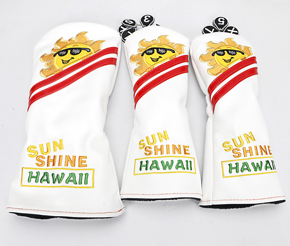 Image 3 - Golf Cartoon White Sun flower#1 #3 #5 Woods PU Leather Golf Driver Head Cover-in Golf Clubs from Sports & Entertainment