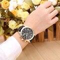 Nuevo Reloj de Cuarzo de Moda Casual Hombres Del Reloj de Números Romanos de Las Mujeres de Imitación de Cuero Analógico reloj de Los Hombres Reloj de pulsera Relogio Feminino