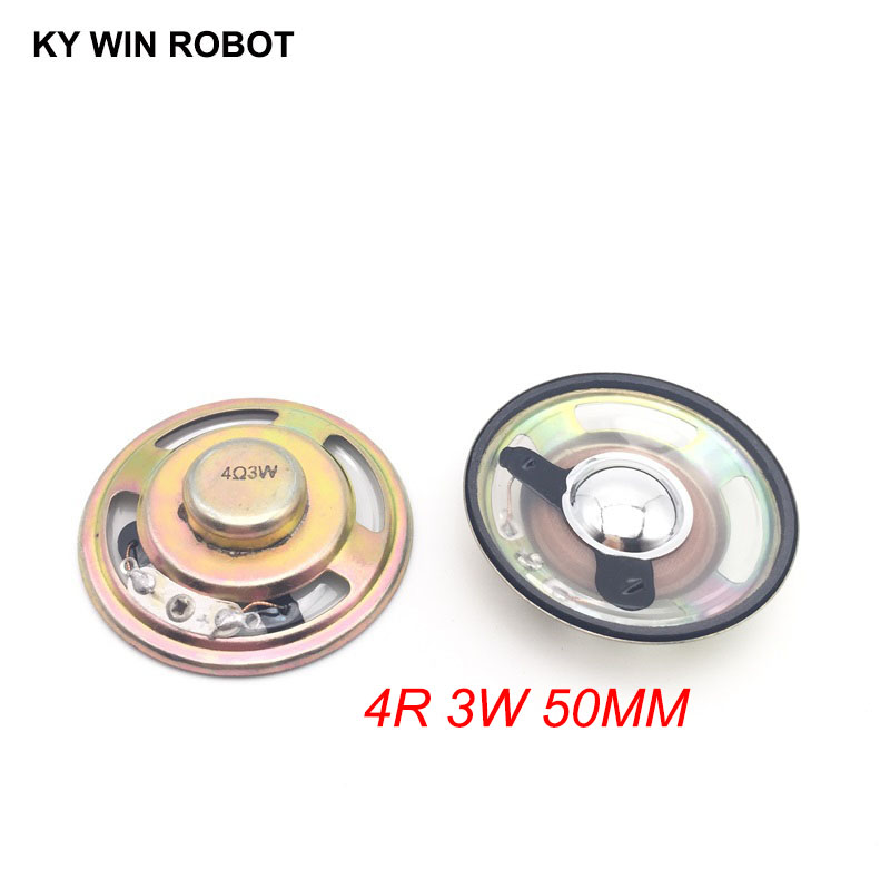 2pcs/lot New Ultra-thin Speaker Waterproof 4 Ohms 3 Watt 3W 4R Speaker Diameter 50MM 5CM Thickness 12.5MM