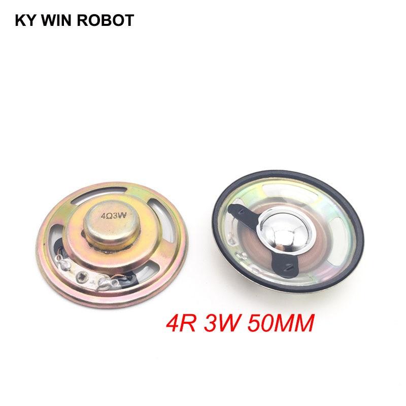 2pcs/lot New Ultra-thin Speaker Waterproof 4 Ohms 3 Watt 3W 4R Speaker Diameter 50MM 5CM Thickness 12.5MM