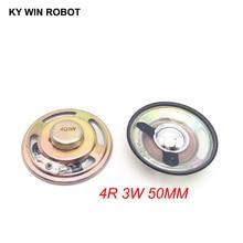 2pcs/lot New Ultra-thin speaker waterproof 4 ohms 3 watt 3W 4R Diameter 50MM 5CM thickness 12.5MM