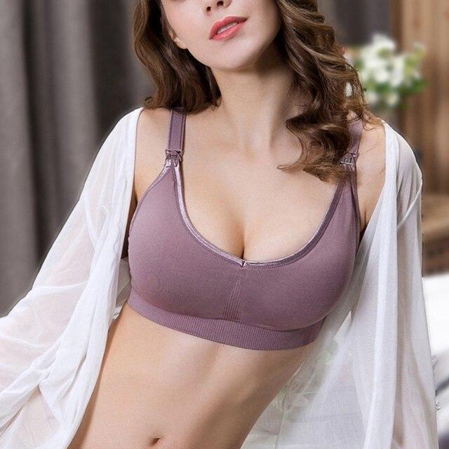0fdd3a2c91 Breastfeeding Maternity Nursing Bras Nylon Sleep Bra For Pregnant Women Pregnancy  Underwear Breast Feeding Bra Convertible