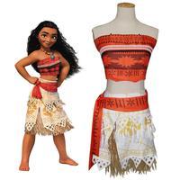 Movie Princess Moana Costume for Kids Moana Princess Dress Cosplay Costume Children Halloween Costume for Girls Party Dress adul