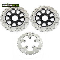 BIKINGBOY Front Rear Brake Discs Disks Rotors for SUZUKI GSF 600 BANDIT / S 95 04 GSX 600 750 F 98 03 SV650S 99 02 RF 400 600 R