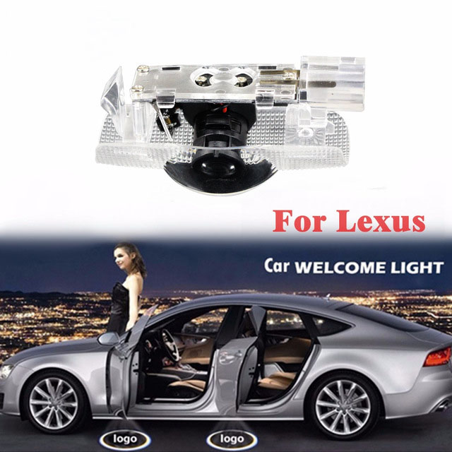 2Pcs Shadow Light Welcome Lamp Logo Laser Projector Car LED Door Warning Light For LEXUS LS LX ES