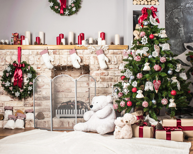 Christmas photography background pet baby photo props party wall