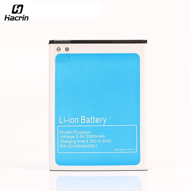 for Bluboo Picasso Battery High Quality 2500mAh Back-up Battery for Bluboo Picasso 4G Smartphone in stock Free Shipping