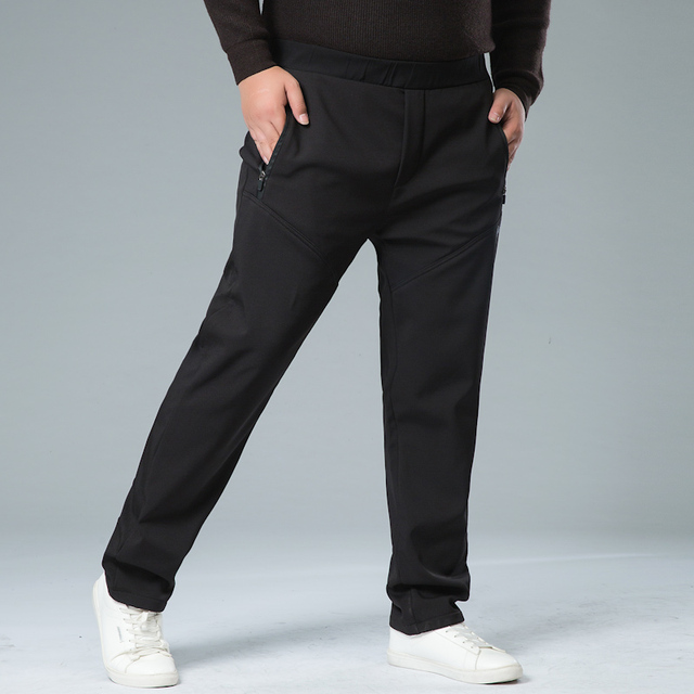 Mens Winter Pant Thick Warm Cargo Pants Casual Outwear Pockets Trousers Plus Size 8XL 7XL Fashion Loose Baggy Pant for Worker 1