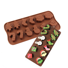 Christmas Gift Chocolate Mold Father Socks Trees Box Special Quality Silicone