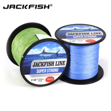 JACKFISH 300M 4 strand Super Strong PE Braided Fishing Line 10-80LB PE Fishing Line black Wire coil  Carp Fishing Saltwater