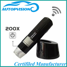 Cheaper M20WL 2.4GHz Wireless Digital Microscope Portable 5X-200X 8 LED 30 M Pixel Sensor Support Windows XP Vista Win 7 Black