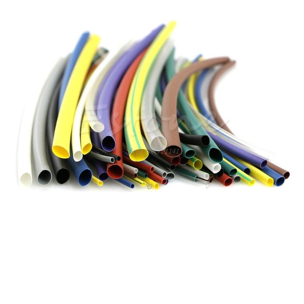 OOTDTY J34 55 шт. 5 Размер Ассортимент Полиолефиновый 2:1 Термоусадочные Трубки Рукава Wrap Комплект
