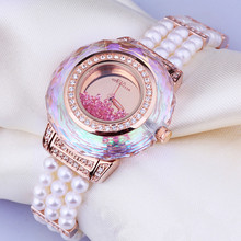 Vogue MELISSA Women Pearls Watches Elegant Lady Party Dress Jewelry