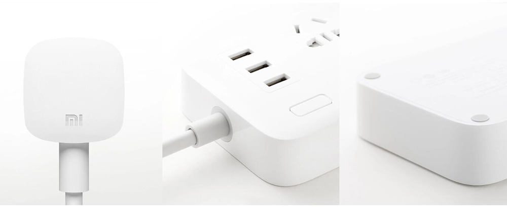 XIAOMI MIJIA Smart Power Strip 2A Fast Charging 3 USB Extension Socket Plug 6 Standard Socket Adapter 1.8m 100% Original (7)