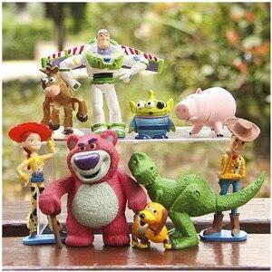 Image 1 - Disney История игрушек Полная коллекция Шериф Вуди Базз Лайтер Джесси Хэмм Рекс искусственная голова картофеля кукла экшн фигурки