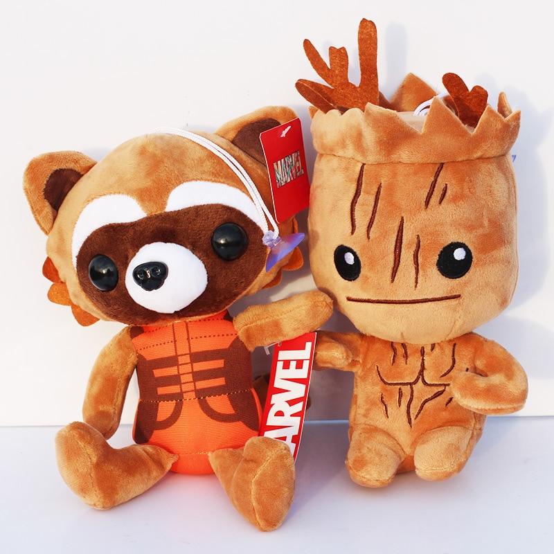 10pcs lot Guardians Galaxy Tree People Rocket Raccoon Stuffed Animal Plush Dolls Soft Toys 8 20cm