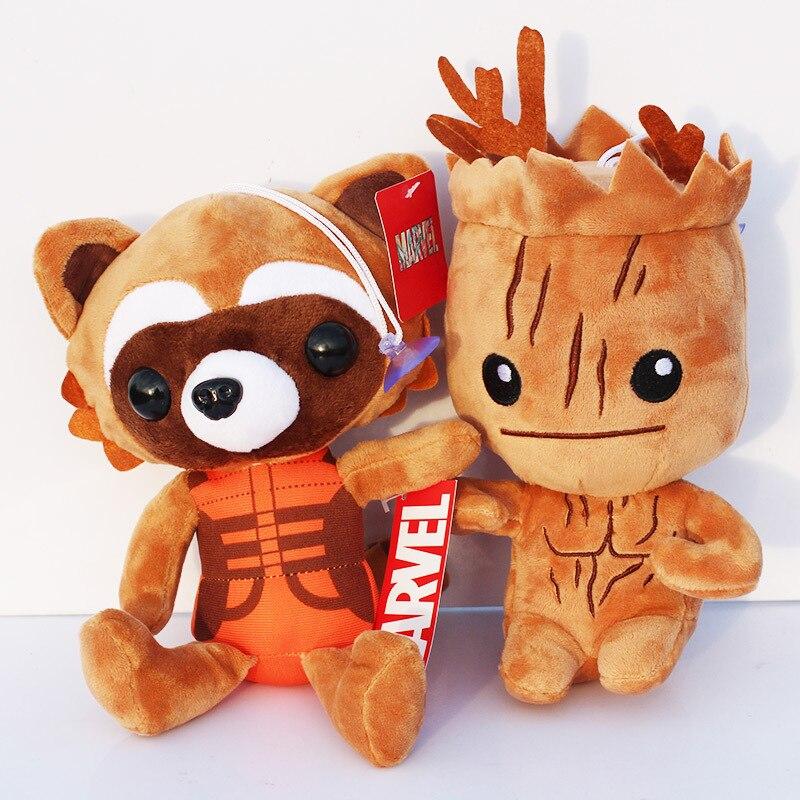 10 Pcs lot Guardian Galaksi Pohon People   Rocket Raccoon Stuffed Animal  Mewah Boneka Lembut Toys 8