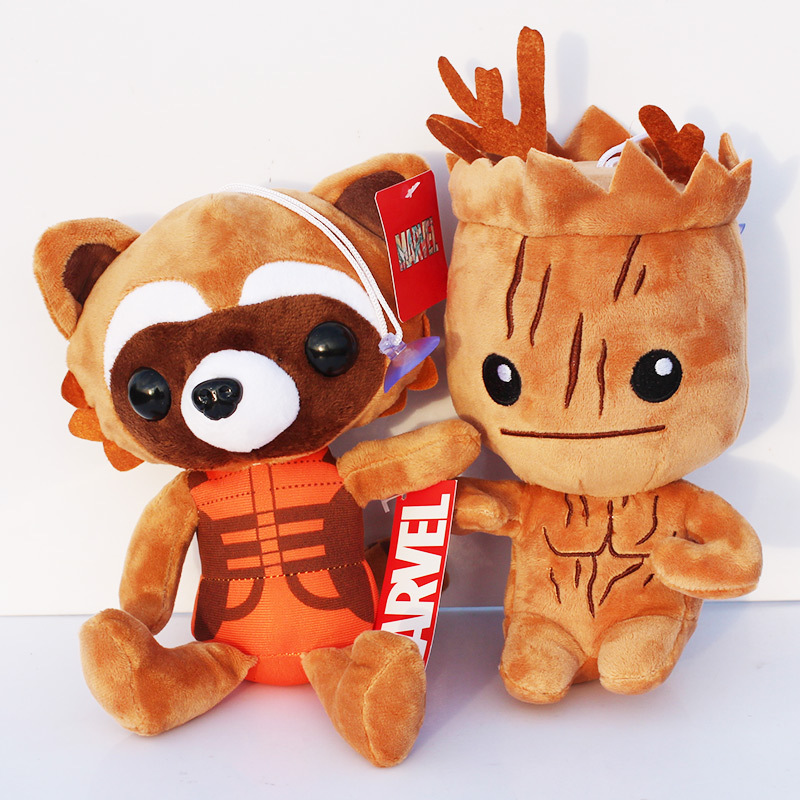 """10pcs/lot Guardians Galaxy Tree People & Rocket Raccoon Stuffed Animal Plush Dolls Soft Toys 8""""20cm Whoelsale-in Movies & TV from Toys & Hobbies    1"""