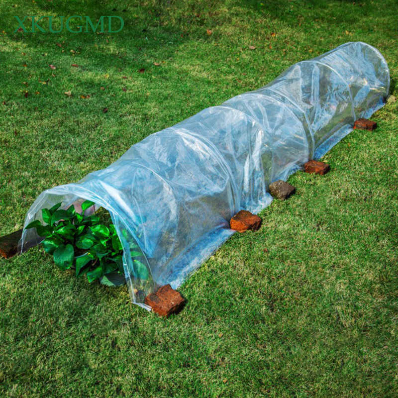 Hot PE Foldable Greenhouse Warm Room Invernaderos Para Huerto Mini Greenhouse Garden Cover Szklarnia Plant Cover 5 Meters Length