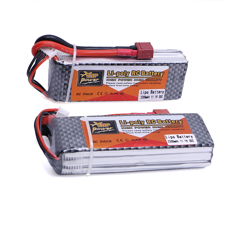 2pcs/lot Lipo Battery 11.1V 2200Mah 3S 30C T Plug For RC Fpv Qudcopter Helicopter Car Boat Truck Airplane Bateria Lipo zop lipo battery 11 1v 2200mah 3s 30c max 35c xt60 t plug for rc helicopter qudcopter drone truck car boat