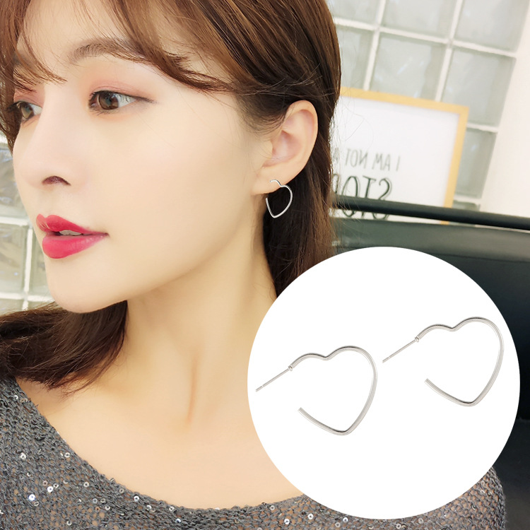 SUROU 2019 New Open Stainless Steel Loving Baita Chaozhou Punk Earrings Stud