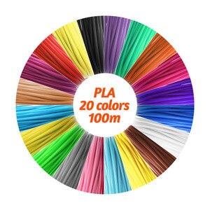 Image 2 - 20 Refills 100 meter 3D pen PLA filament Refills High Precision 1.75mm PLA Filament Eco friendly Material 20 Colors