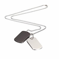Wistic Stainless Steel 2PC Military Army Dog Tag Pendant Necklace Classic Fashion Jewelry Christmas Gift For