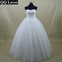 QQ Lover New Simple Robe De Mariage Ball Gown Wedding Dress Bridal Gown Vestido De Noiva