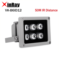 Auxiliary Infrared Light 6 Strong LED Night Vision Range 50M Aluminium Illuminator lamp for Security CCTV IP Camera