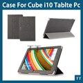 Оригинал Высокого качества PU чехол для cube i10 10.6 дюймов Tablet PC, cube i10 случае обложка + протектор экрана + стилус