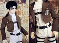 New Arrival Shingeki No Kyojin Levi/Eren Yeager/Mikasa Ackerman BJD COS Clothes 1/4 Doll Clothes