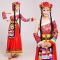 Китайская традиционная национальная одежда Монгольский Танец производительности Одежда женская костюм Китайский танцевальные костюмы