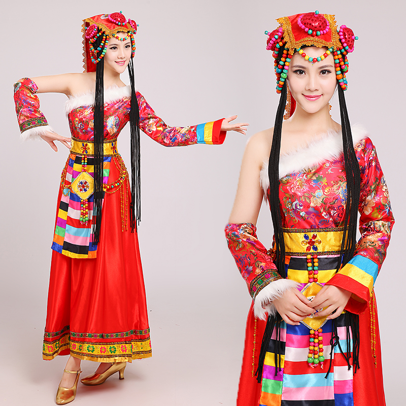 chinese traditional national dress mongolian dance performance clothing female costume chinese dance costumes in chinese folk dance from novelty special