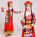 Chinese traditional national dress Mongolian Dance performance Clothing female costume Chinese dance costumes